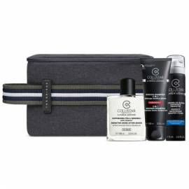 Collistar Kit  Uomo Dopobarba 100 ml e Schiuma da Barba75 ml Pelli Sens + Shampoo 3 In 1 100 ml + Bag THE BRIDGE