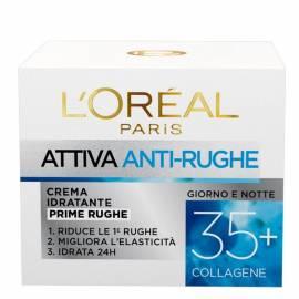 L`Oreal Paris crema idratante attiva anti rughe 35+ al collagene giorno e notte