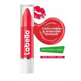 LABELLO Crayon Lipstick 03 Poppy Red COLORE INTENSO IDRATAZIONE FONDENTE