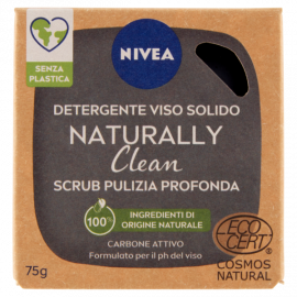 Nivea Naturally Clean Detergente Viso Solido Scrub Pulizia Profonda 75 g