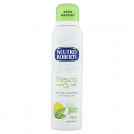 Neutro Roberts fresco zero% sali tè verde e lime Deo Spray 150 ml