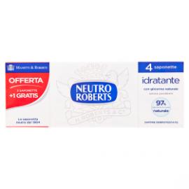 Neutro Roberts Sapone Solido Extra Idratante 100 G 3 Saponette + 1 Omaggio