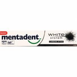 MENTADENT Dentifricio White System Carbone Attivo 75 Ml
