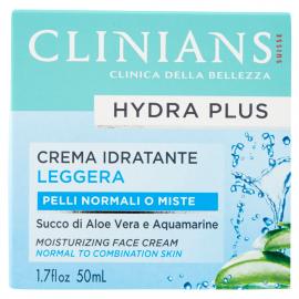 Clinians Hydra Plus Crema Idratante Leggera Pelli Normali o Miste 50 mL