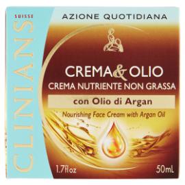 Clinians Crema & Olio Crema Nutriente Non Grassa Con Olio Di Argan 50 ML