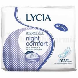 LYCIA ASSORBENTI CON ALI ULTRASOTTILI NIGHT COMFORT X10