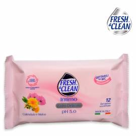 Fresh & clean salviette intime 12 pz
