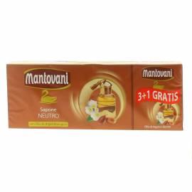 Mantovani - Sapone neutro con olio di argan biologico 4 x 100 g