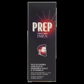 Prep For Men Olio da Barba con Olio di Mandorle Dolci e Vitamina E 50 ml